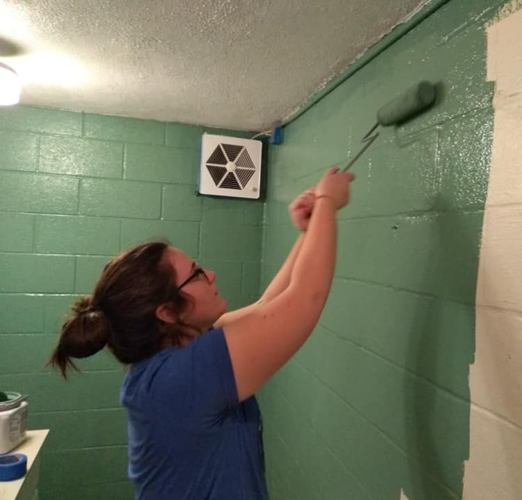 Blair With a Paint Roller!